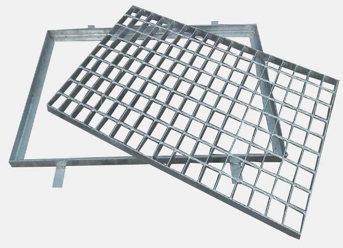 Wycieraczka metalowa ocynk 500x1000 z kraty wema