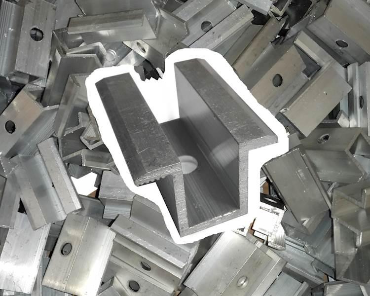 OP.500szt. Klema aluminiowa środkowa netto 1,20