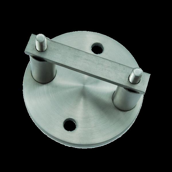 Mocowanie słupka boczne do rury 42,4mm szlif INOX