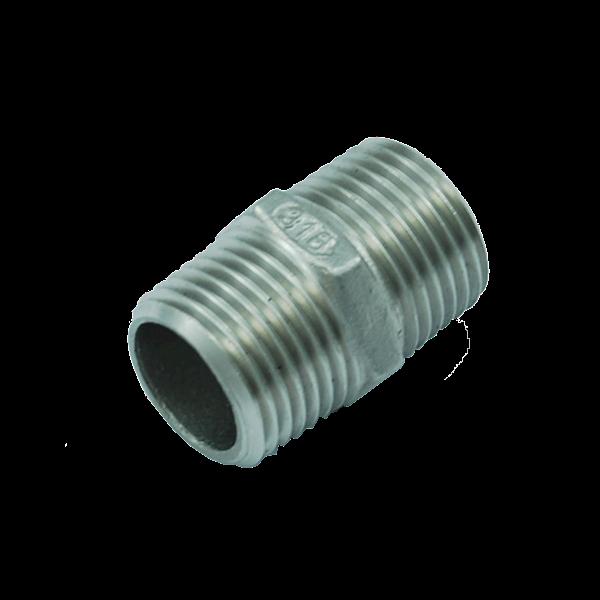 Nypel kwasoodporny sześciokątny GZ 3/8'' AISI 316