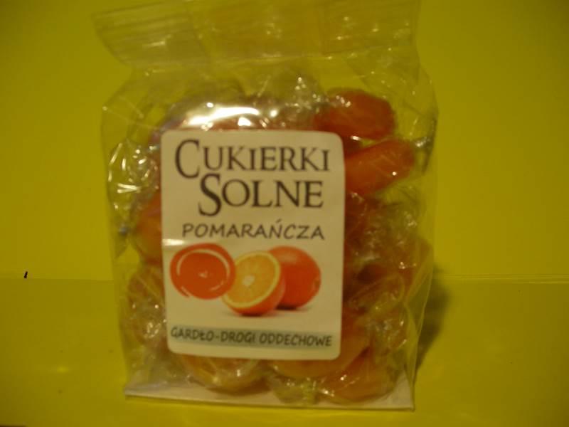 Cukierki Solne - pomarańcza 100g
