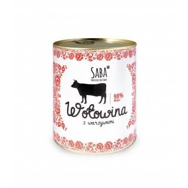 Saba konserwa 98% wołowina z warzywami 850g