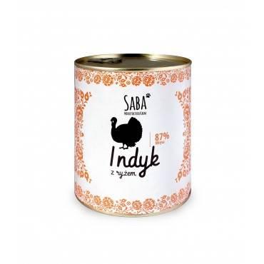 Saba konserwa 87% indyk z ryżem 850g