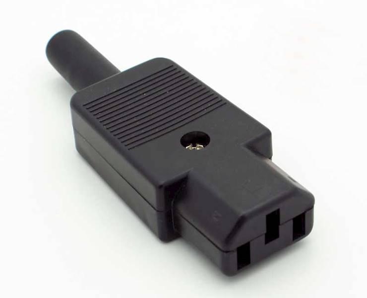Gniazdo C13 IEC komputerowe damskie na przewód