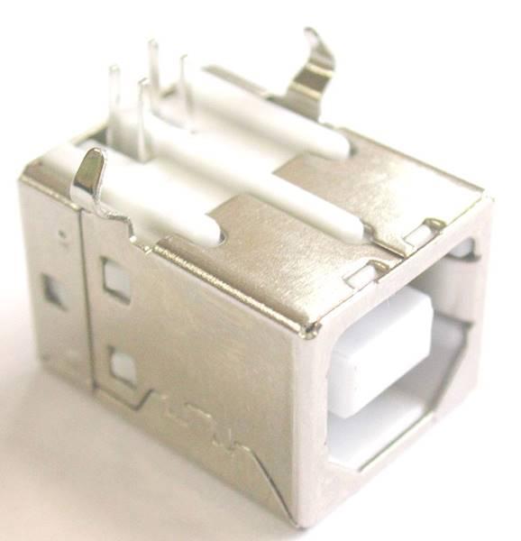 Gniazdo USB B THT drukarkowe