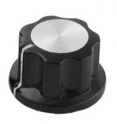 Gałka czarna 16mm GBC16 bakielit
