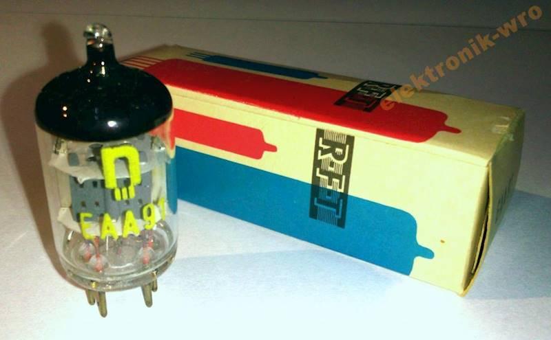 Lampa elektronowa EAA91=EB91=6D2=6AL5 RFT NOS