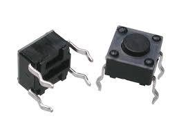 Tact switch THT 6x6mm h=4,3mm 4 pin