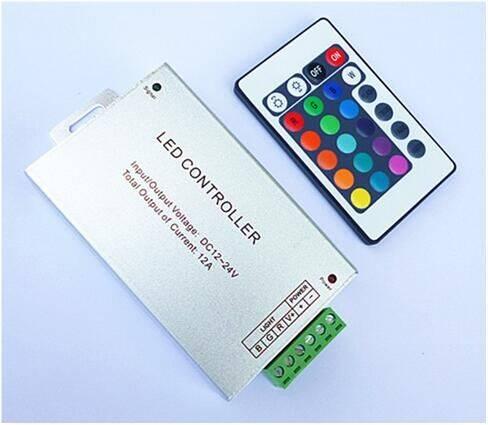 Sterownik LED RGB RF 12v 12A 24 klawisze