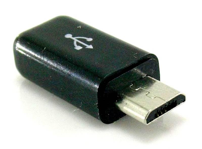 Wtyk micro USB na przewód plastic