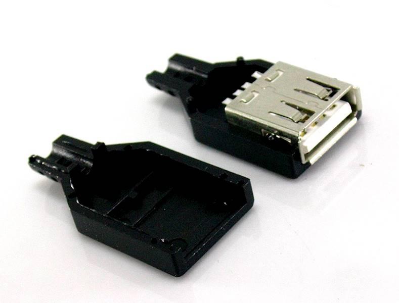 Gniazdo USB A na przewód plastic