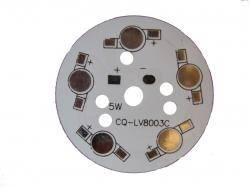 Płytka radiator 5x LED R=49mm
