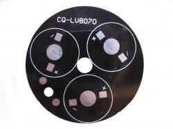 Płytka radiator 3x LED R=49mm
