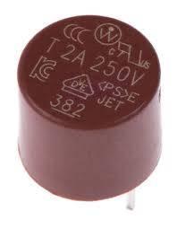 Bezpiecznik kubkowy T1A 250V R=5,08mm