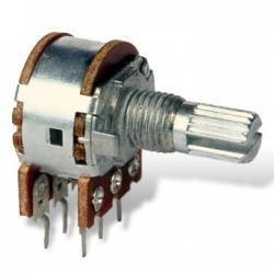 Potencjometr 2x 1k ohm B liniowy l=15/20mm