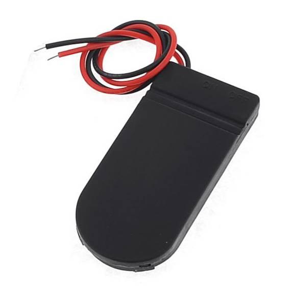 Uchwyt baterii 2x CR2032 z wyłącznikiem