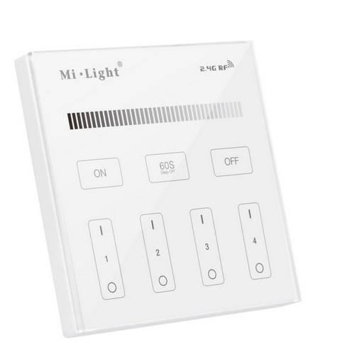 MI-LIGHT pilot 4 strefy MONO panel dotykowy T1 p/t