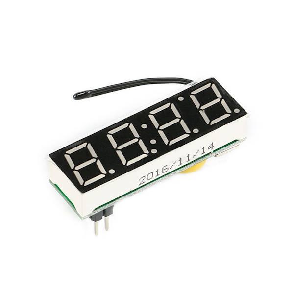Moduł zegar LED + termometr + woltomierz