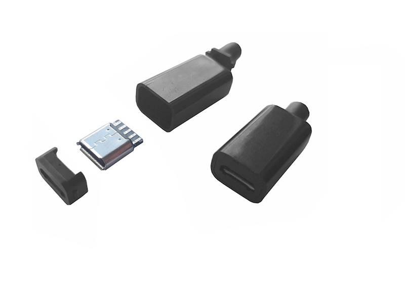 Gniazdo micro USB na przewód plastic