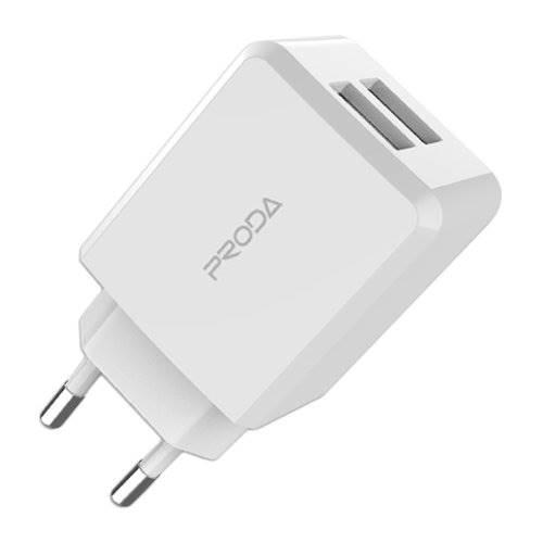 Zasilacz ładowarka USB 230V 2xUSB 2,1A Proda PD-A22
