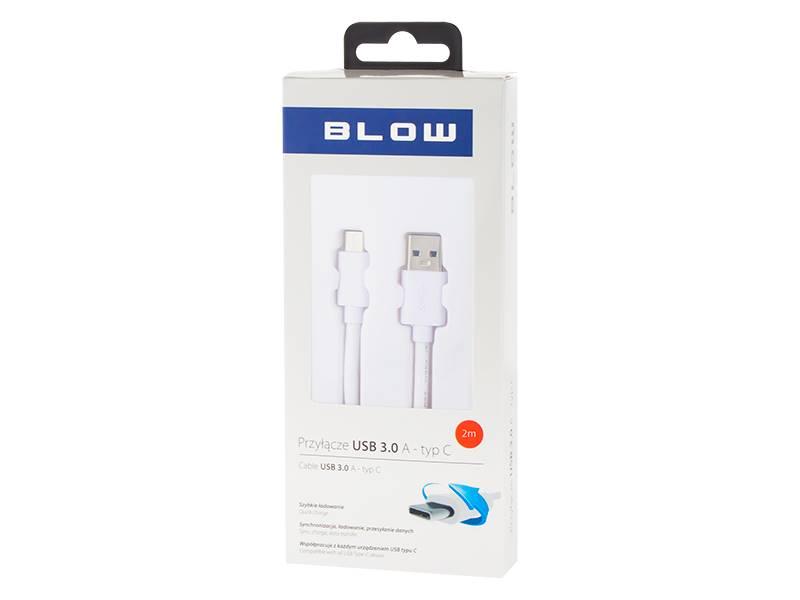 Przyłącze USB - wtyk USB C 0,5m 3.0 biały