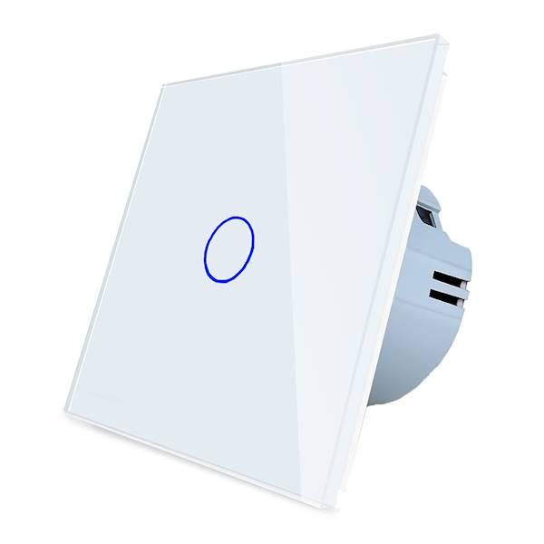 WELAIK włącznik dotykowy pojedynczy biały zestaw