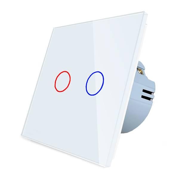 WELAIK włącznik dotykowy podwójny biały zestaw