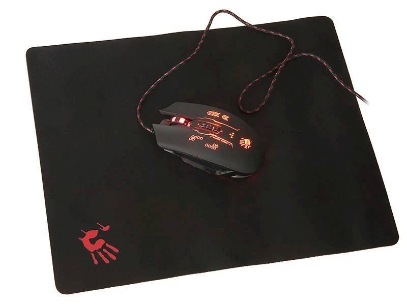 Zestaw Mysz + Podkładka A4Tech BLOODY Q8035BS