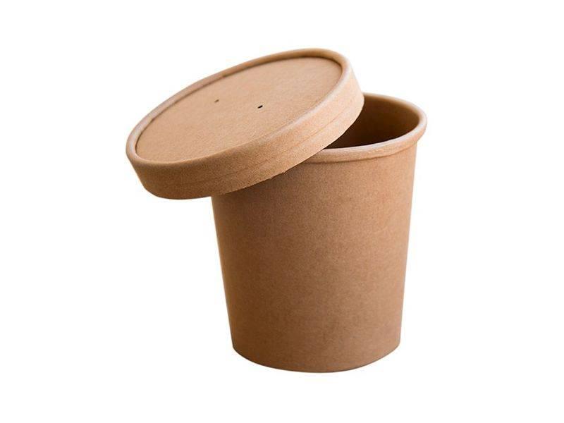 Pokrywka papierowa brązowa 26oz (770ml) a`1000