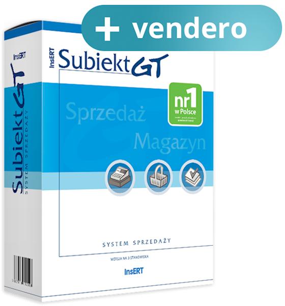 Subiekt GT + vendero sklep 1000 towarów (licencja elektroniczna)