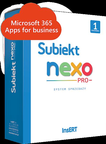 Subiekt nexo PRO 1st. (e-lic.) + Microsoft 365 Apps for business