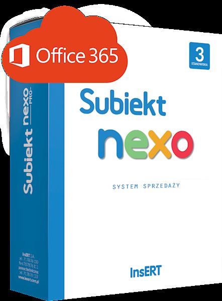 Subiekt nexo (licencja elektroniczna na 3 st.) + Office 365 Business