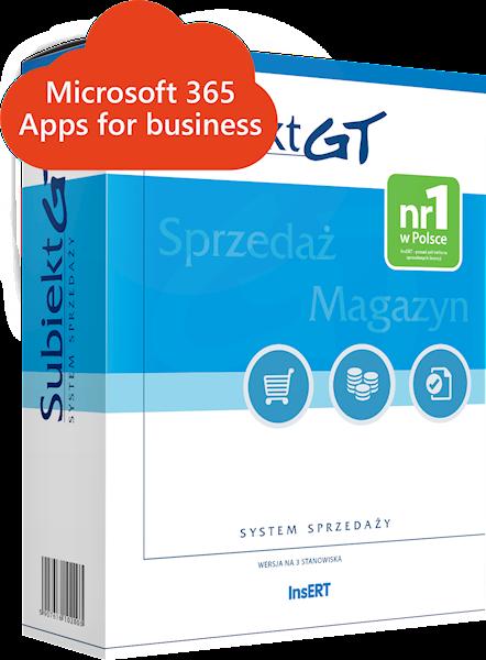 Subiekt GT (e-lic.) + Microsoft 365 Apps for business
