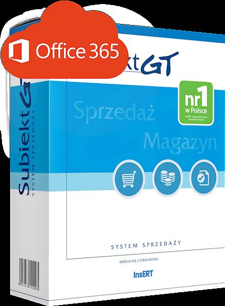Subiekt GT (licencja elektroniczna) + Office 365 Business