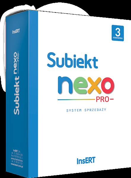 Subiekt nexo PRO (licencja elektroniczna na 3 st.)