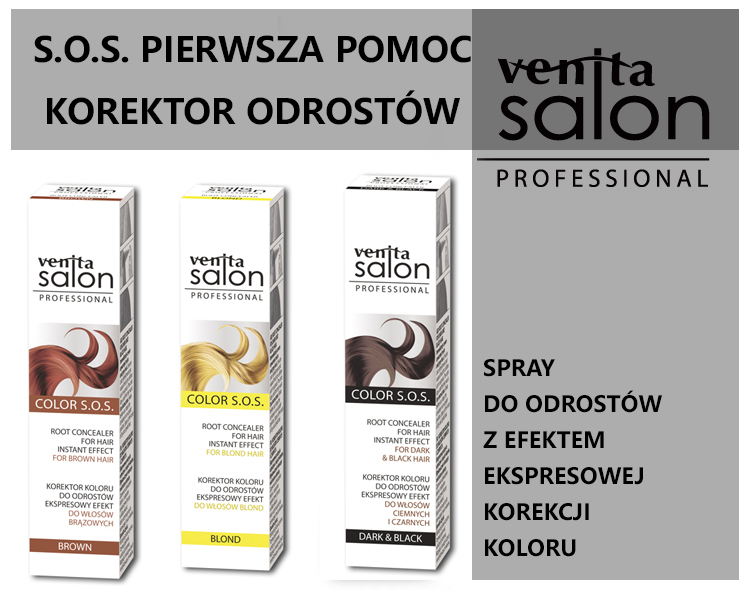 Spray do odrostu VENITA SALON PROFESSIONAL COLOR S.O.S. korektor koloru