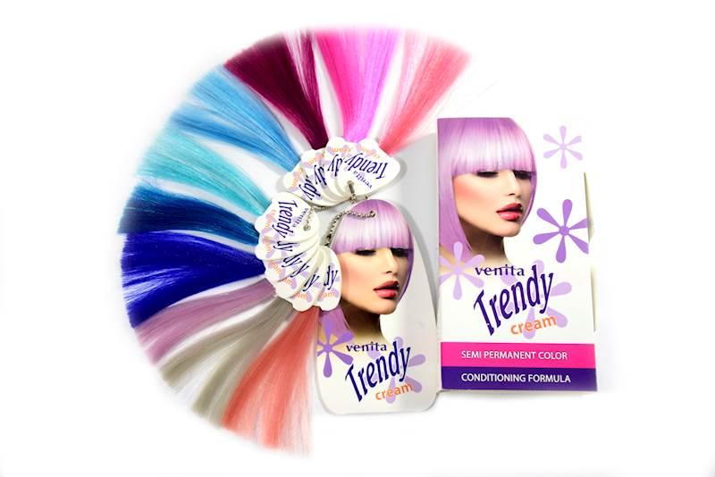Farba do koloryzacji włosów Trendy Cream 35-LAZUROWY BŁĘKIT