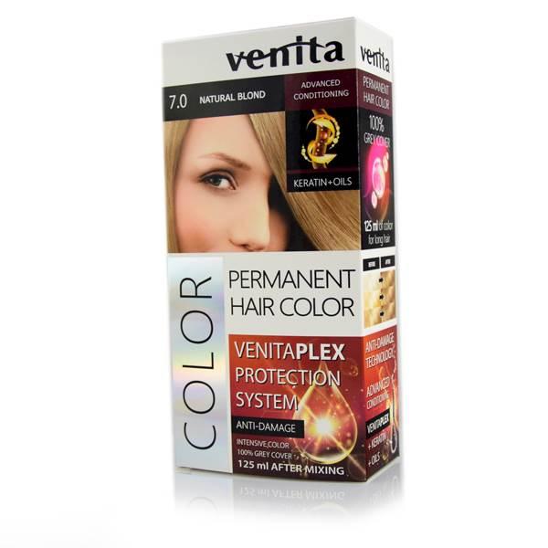 Farba do farbowania długich włosów 125 ml 7.0 Naturalny Blond
