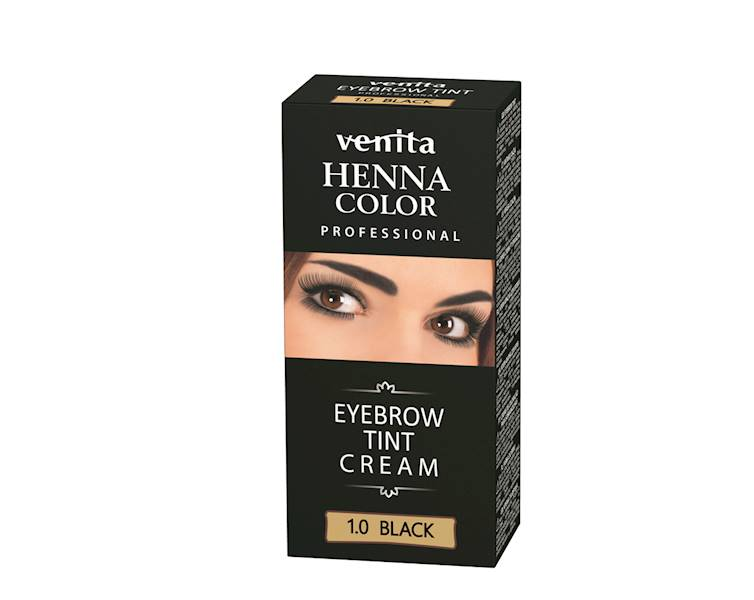 Henna do brwi w kremie CZARNA 15 ml