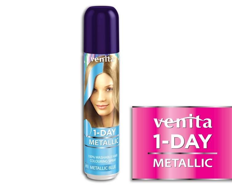 SPRAY DO WŁOSÓW 1-DAY METALLIC NR M3 BLUE 50 ml