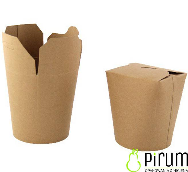 Food Box 1000ml Eco Brąz Kraft 50szt Kram 37674
