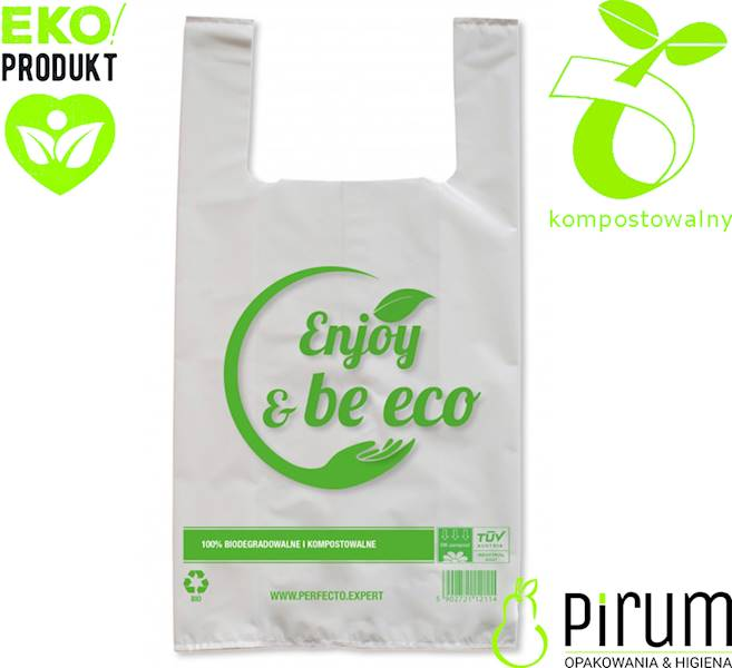 Torba 100% Bio Enjoy Be Eco 28x45cm 18my 50szt
