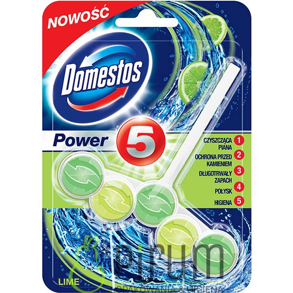 Domestos 55g Power 5 WC Kostka LIME
