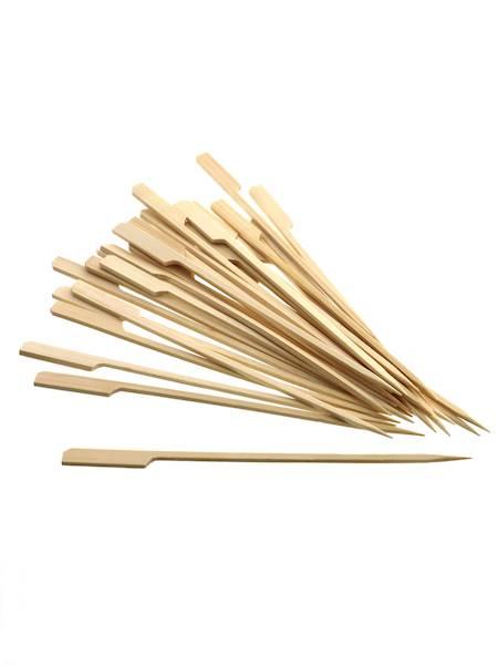 Bambusowe szpilki do burgerów/szaszłyków 20 cm 30 sztuk / Party bamboo BURGER 20 sticks 30 pcs set 8712442134534 / 2227196