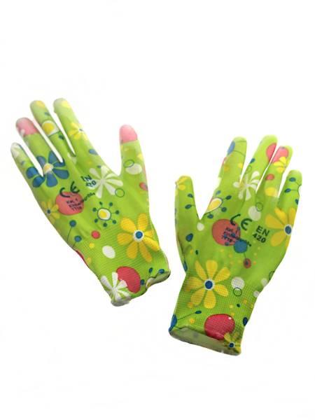 Ogrodowe prace RĘKAWICZKI KOLOROWE 2 wzory / Garden works GLOVES flower 4038732300057 / 146104/30005
