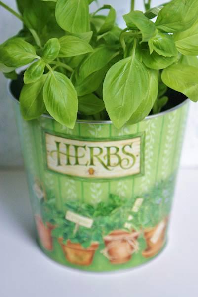Metalowa osłonka/doniczka do ziół i kwiatów, 13x12x12,5cm / Metal flower pot Herbs 12,5 cm 8712442064824 / 23466397