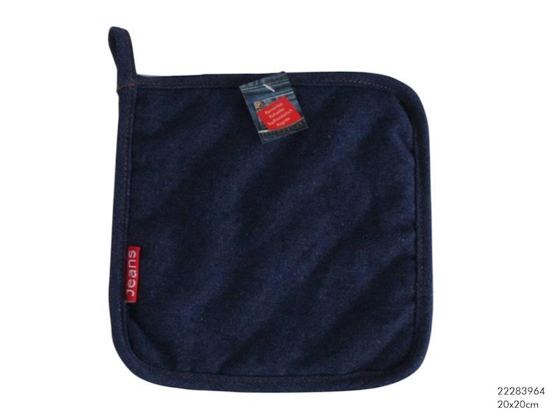 Tekstylia- JEANS Chwytak/podkładka kuchenna, granatowa, 20x20cm / Material mat JEANS 20x20 cm 8712442063162 / 22283964