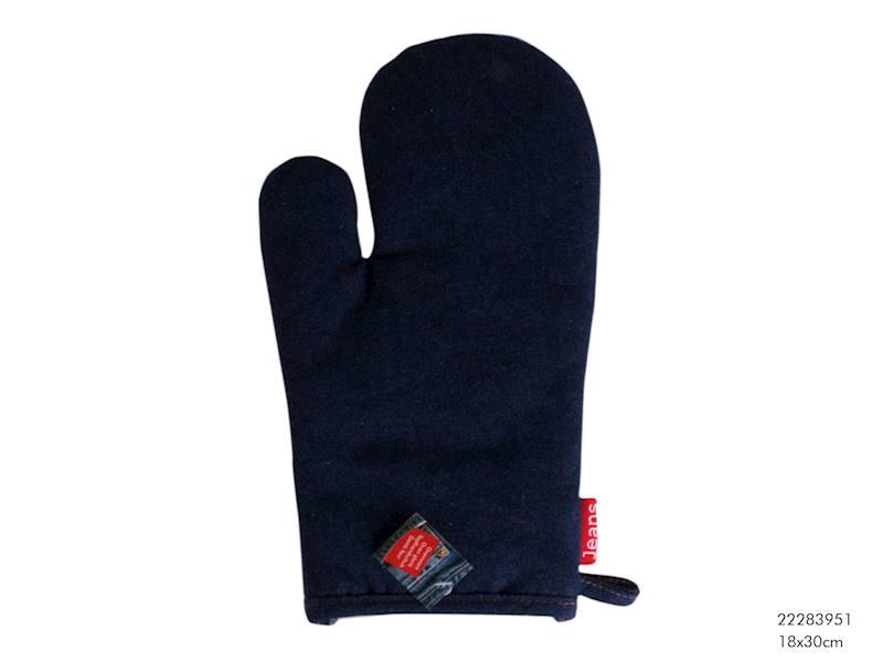 Tekstylia- JEANS Rękawica kuchenna, granatowa, 18x30cm / Material glove JEANS 18x30 cm 8712442063155 /  22283951