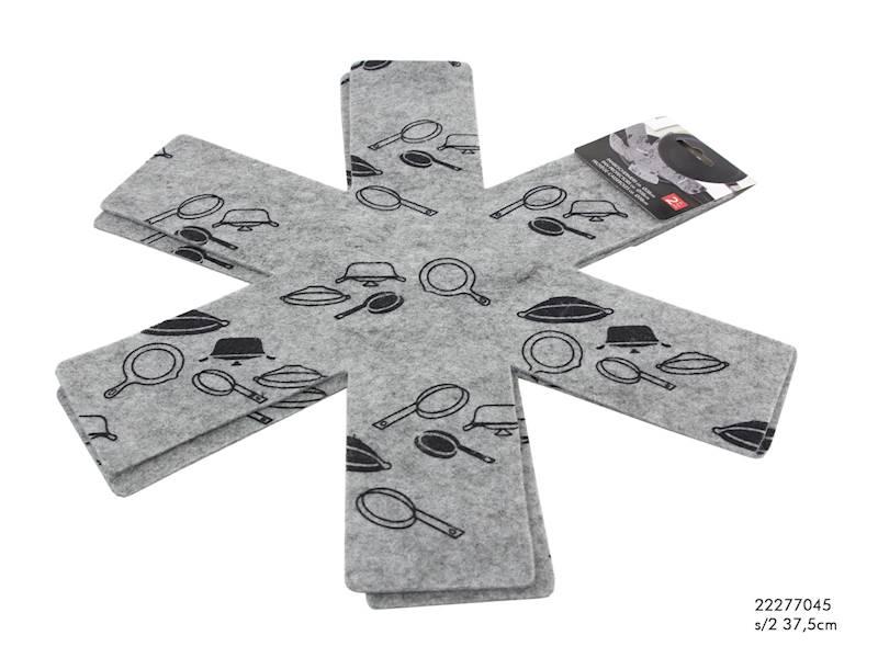 Przekładki filcowe do garnków i patelni 38cm, 2szt / Felt pad for frypan set 2 pcs 8712442907879 / 22277045