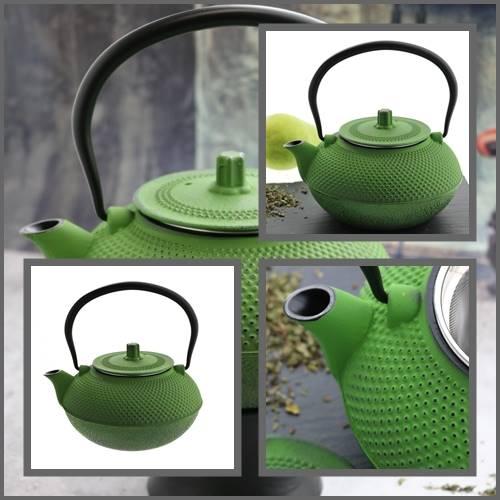 ŻELIWO-żeliwny czajniczek w stylu japońskim 1,5l zielony / Cast iron japanese teapot 1,5L green 8712442116233 / 22170650
